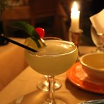 Green apple marguerita and chili com queso