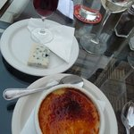 Aged Port & Cheese and Creme Brulee