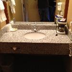 vanity separate from restroom