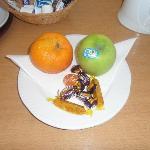 fresh fruit and chocolates