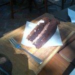 Choc Cake with White Choc Flakes - Amazing