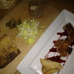 pate de campagne and foie gras poele