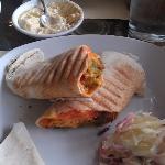 Fiery falafel pita