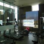gym space has some cardio equipment