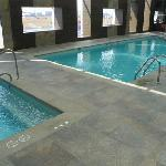 another view of the pool (exercise room at other end)