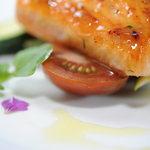 Roasted Salmon Honey & Thyme Glace