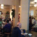 plenty of seating in the breakfast room