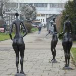 Музы в парке искусств Музеон около Третьяковской Государственной Галереи на Крымском Валу