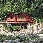 View of Jungle Inn while tubing