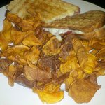 Italian Panini with sweet potato homemade chips
