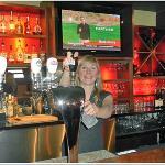 Molly, a super-server at Fluid Bar & Grill, Courtenay, BC; Mar. 24, 2012