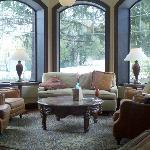 Lounge area at Lola's Bar--Osthoff Resort