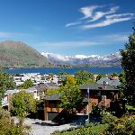 Lake, Mountain and Lodge View