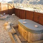 Private jacuzzi outside of room