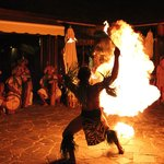 Fire dance performers