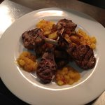 lamb Bombay potatoes with mango chutney