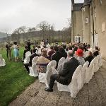 Our outside wedding looking onto Bennachie