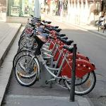 A Lyon Cycle Hire Station near the hotel