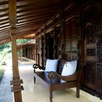 Front pation of our room (Joglo styled villas)
