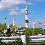 View of US Space & Rocket center from room