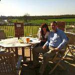 The sun terrace overlooking the River Severn