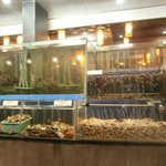aquarium with fresh seafood