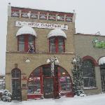 Fresh snow at the Red Garter Inn