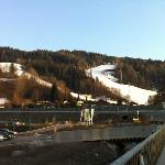 view of Planai ski slopes from the hotel