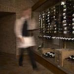Wine display in The Cellar Bar