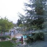View from window #249 -normally you can see mountains but its rainy.