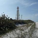 The lighthouse at Lighthouse Beach.