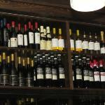 A small portion of their wine selection