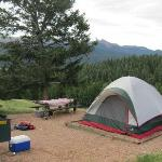 View of Pikes Peak from campsite
