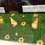 Décoration de la vitrine pour pâques
