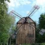 Windmill in wallachian village