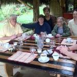 Lunch is ready and we are joined by Cecilia at Huasquila Lodge.