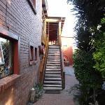Treppe zu den Zimmern