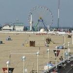 Looking down to the amusement park at the begining of the boardwalk and Beach - Ocean Front