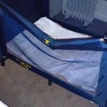 The broken cot that my poor baby had to sleep in :(