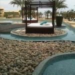 peaceful lounging areas