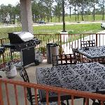 Gazebo with two BBQ Pitts