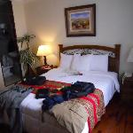 Room at hotel front side