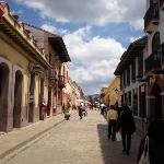 Colonial streets and alleyway lined with red roof tiles