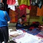 Textile stall in the market