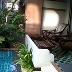 Our private balcony, pool access!