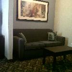Sitting area in suite