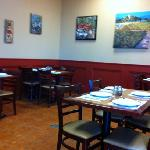dining area for fresh Italian food
