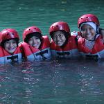 After body rafting with students