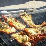 Crayfish on the braai
