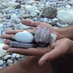 Stones lining the river - Camp Silver Sands